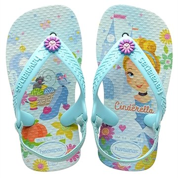 Havaianas Baby New Disney Princess Branco/Ice Blue