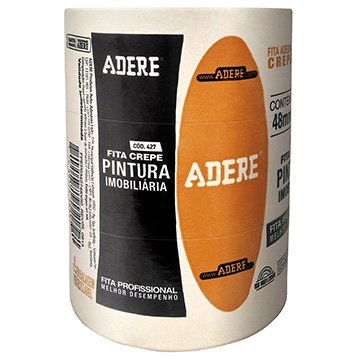 Fita Crepe Adere Uso Geral 427 48mm x 50m Embalagem c/ 3unidades